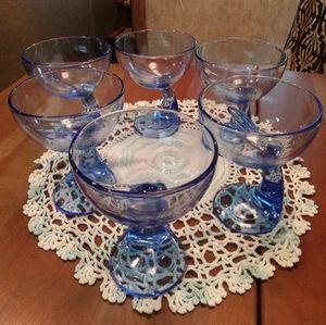 Set of 6 Jerba Sapphire Blue Italian Wine Glasses